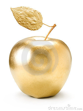 Free Gold Apple. Stock Photos - 24013123