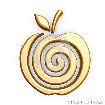 Gold apple symbol