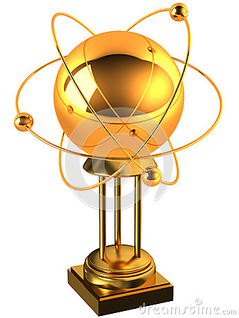 Gold atom on a stand