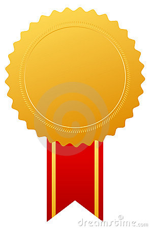 Gold award medal