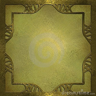 Gold background with design frame