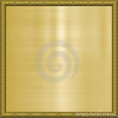 Gold background in frame