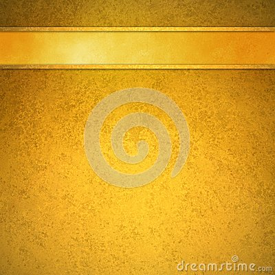 Free Gold Background With Gold Ribbon And Trim Header Stock Image - 60785761
