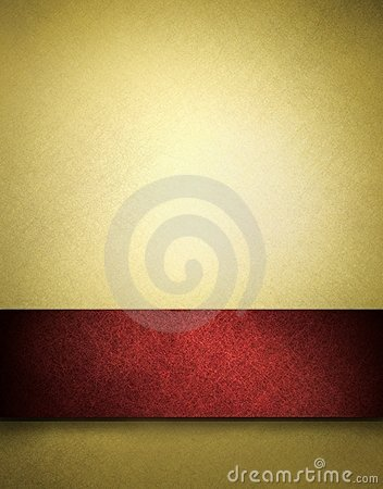 Free Gold Background With Red Stripe For Text Or Title Stock Images - 17251454