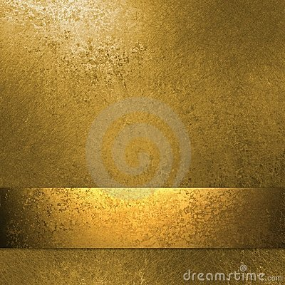 Free Gold Background With Ribbon Royalty Free Stock Photography - 19065547
