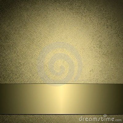Free Gold Background With Shiny Golden Ribbon Royalty Free Stock Photos - 20586898