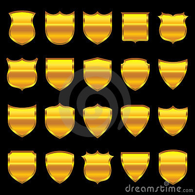 Gold Badge - 1 - Selection of 20