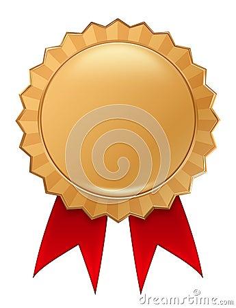 Free Gold Badge Royalty Free Stock Photos - 5392868