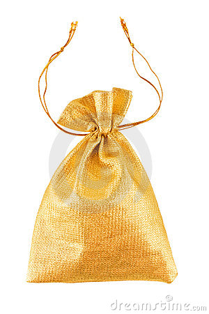 Free Gold Bag Royalty Free Stock Photo - 12042515