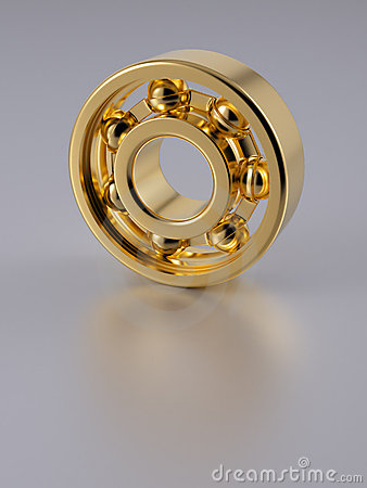 Gold ball bearing