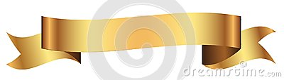 Gold banner for design in vector Vector Illustration