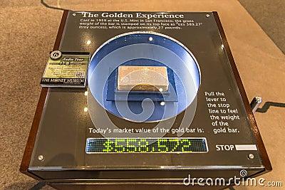 Gold Bar Editorial Stock Image
