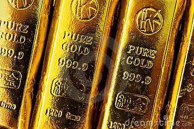 Gold bars Editorial Stock Photo