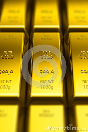 Gold bars (with DOF effect)