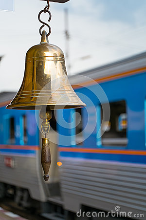 Gold Bell in Railway Station