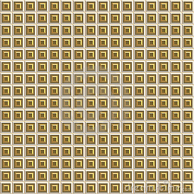 Gold Beveled Squares Seamless