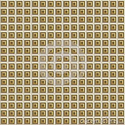 Gold Beveled Squares Seamless