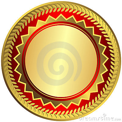 Gold big medal (vector)