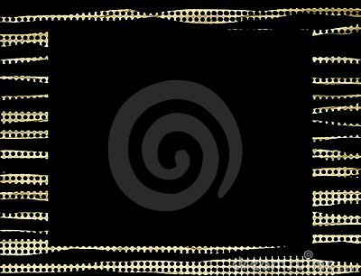 Gold black dots frame background