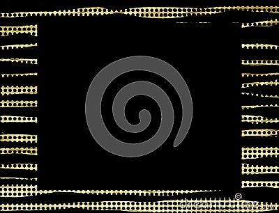 Gold black dots frame background