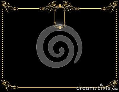 Gold Black elegant background 2