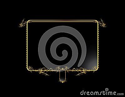 Gold Black elegant background 3