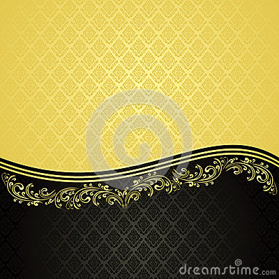 Gold and black - luxury Background.