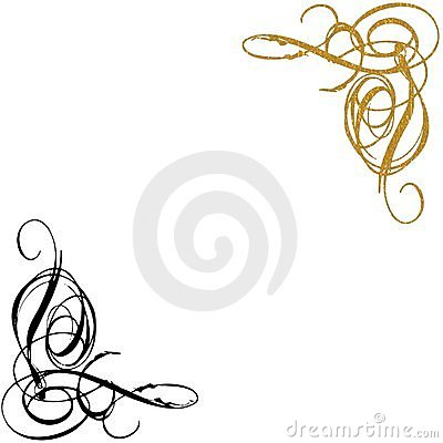 Gold And Black Swirls Background Royalty Free Stock Image - Image: 8329936