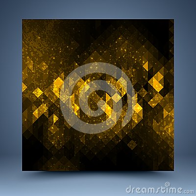 Free Gold, Black Vector Grunge Abstract Background Stock Images - 39112184