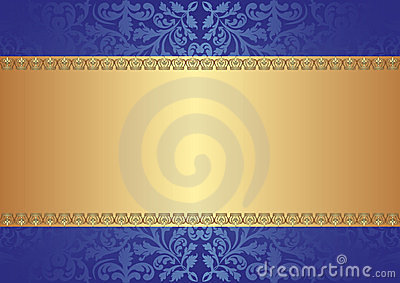 Gold blue background