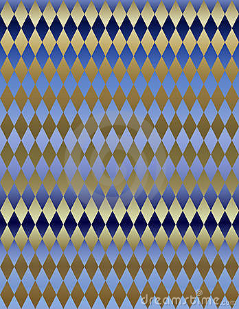 Gold Blue Metallic Harlequin background wallpaper