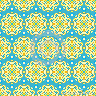 Gold and blue pattern