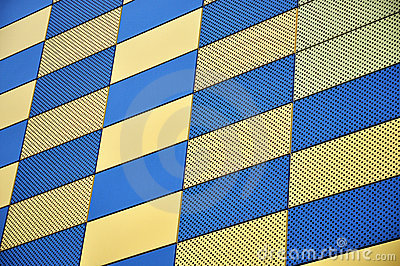 Gold and blue wall