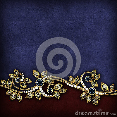 Gold border on dark grunge background