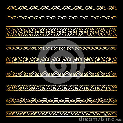 Free Gold Borders Royalty Free Stock Photography - 39547097