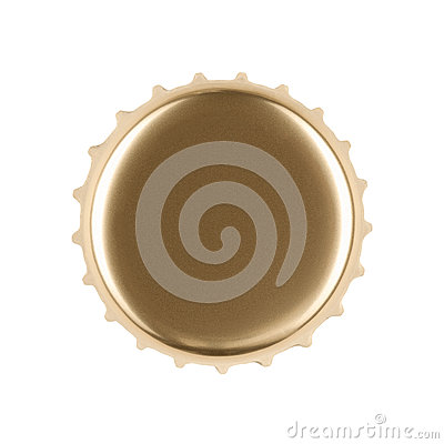 Free Gold Bottle Cap Royalty Free Stock Images - 26555979