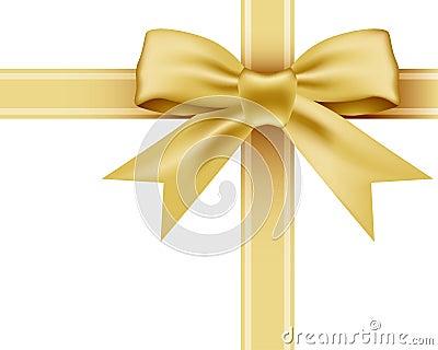 Gold bowknot