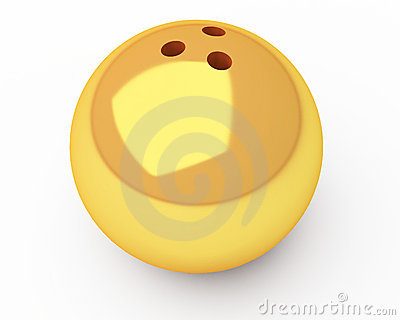 Gold bowling ball