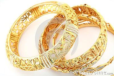 Gold bracelets 3