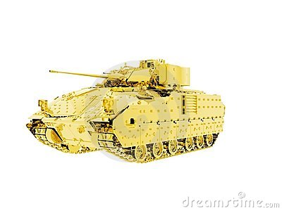 Gold Bradley Fighting Vehicle Tank