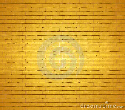 Gold brick wall.