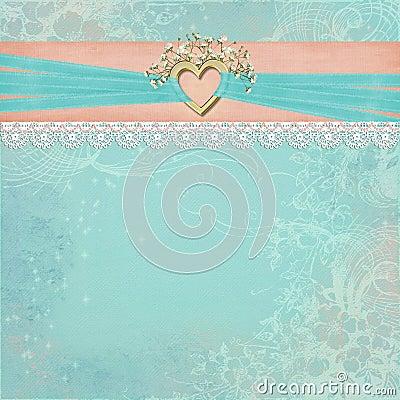 Gold Bridal Heart