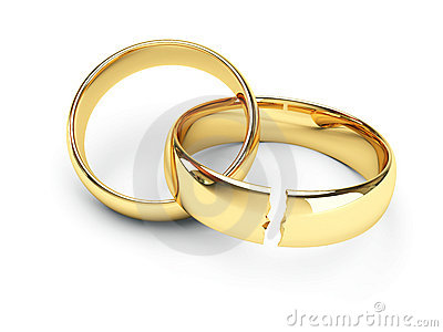 picture of broken wedding rings