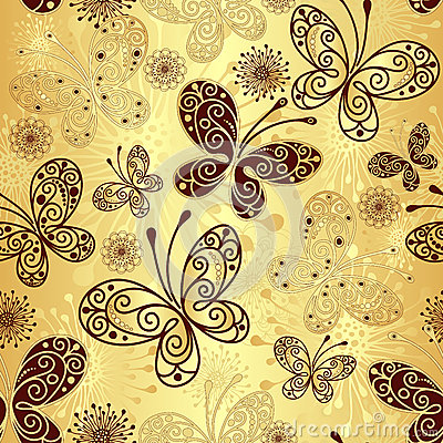 Free Gold-brown Seamless Pattern Royalty Free Stock Images - 27849529