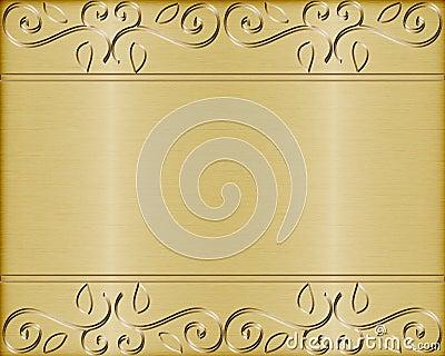 Gold brushed metal vector background