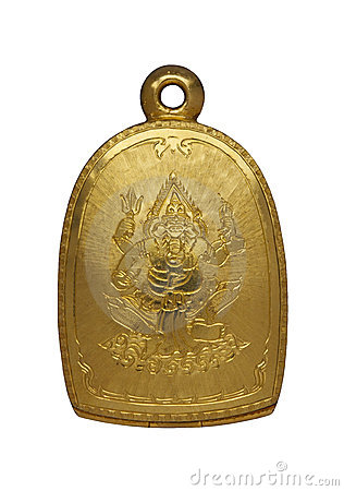 Gold Buddha amulet locket