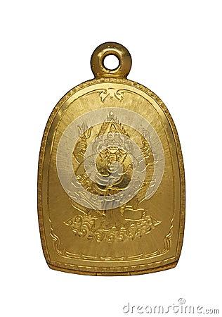 Gold Buddha amulet locket