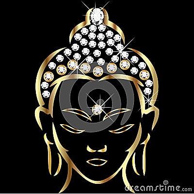 Free Gold Buddha Status Stock Photography - 22176792