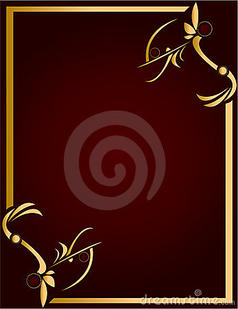 Gold and Burgundy background 4
