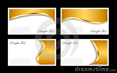 Gold business cards templates